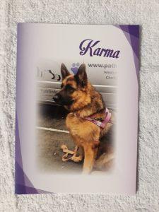 Karma photo on A6 notecard