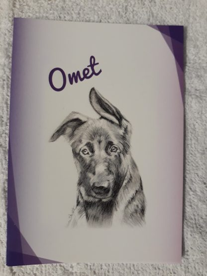 Omet sketch on A6 notelet