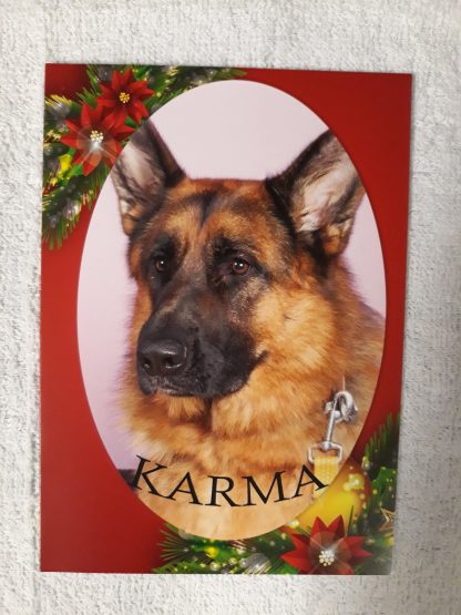 Karma picture on Christmas card.