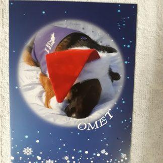 Omet on Christmas card design