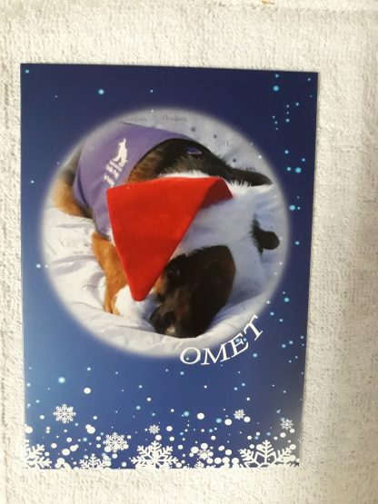 Omet on Christmas card design