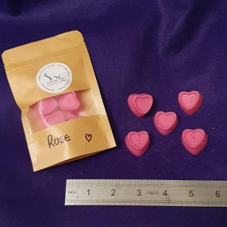 Midi Rose Hearts wax melts pack of 5