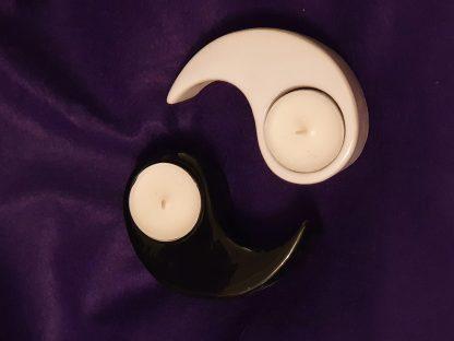 yin yang tealight holders
