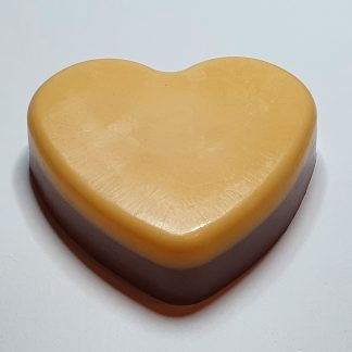 Chocolate orange heart soap