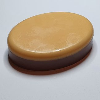 Chocolate orange oval soap
