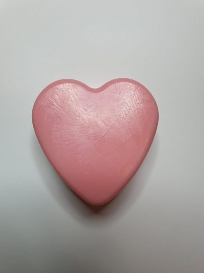 Rose scented heart soap