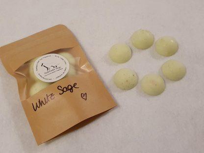 White sage midi spheres