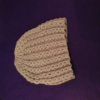 grey hand knitted hat - kids