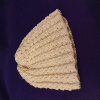 hand knitted cream hat