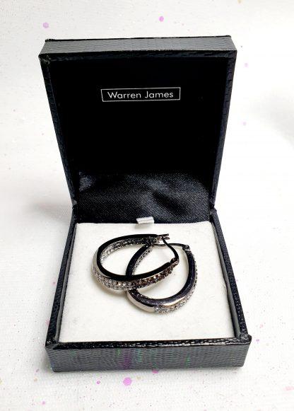 Boxed Warren James earrings