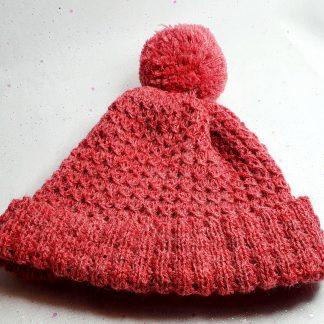 Dusky pink hat