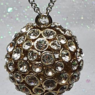 Golden Ball Diamanté necklace