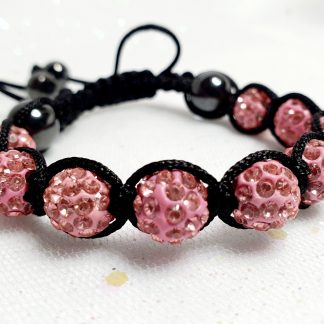 Pink beaded friendship bracelet