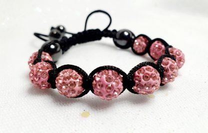 Pink beaded friendship bracelet