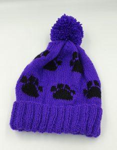 Purple Pom Pom hat