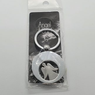 Angel coin keyring