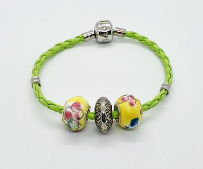 Green Corded Bracelet JC018